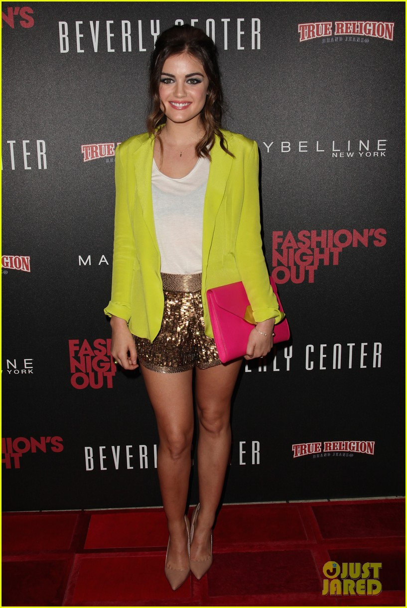 lucy hale beverly center fashions night out 05