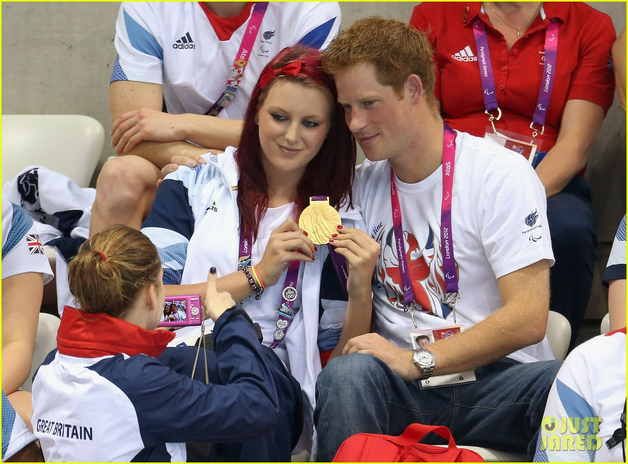 prince harry paralympics swimming spectator 29