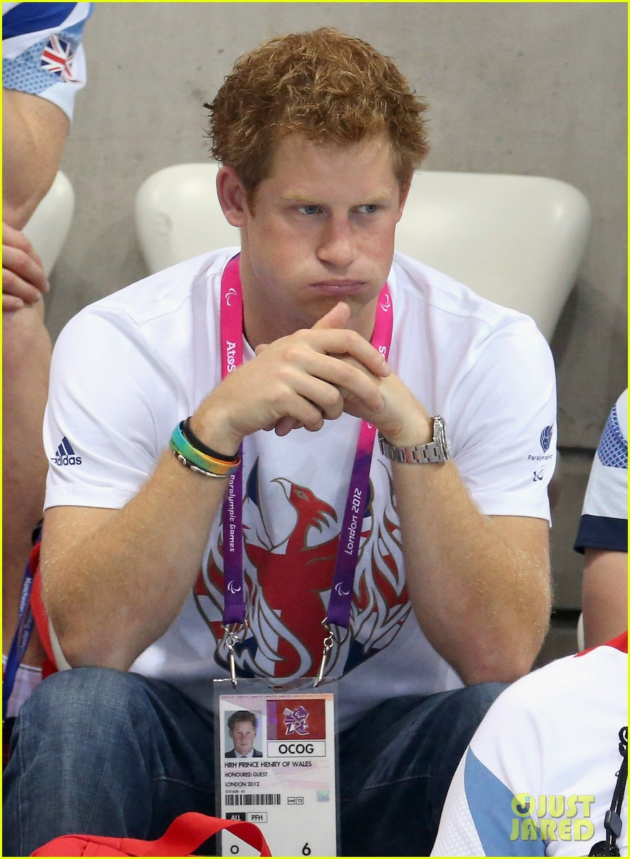prince harry paralympics swimming spectator 372713815