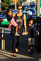 heidi klum starbucks run with kids 01