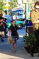heidi klum starbucks run with kids 17