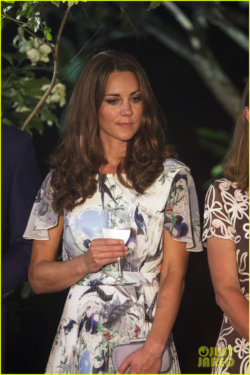 duchess kate toasts the queen with water 06