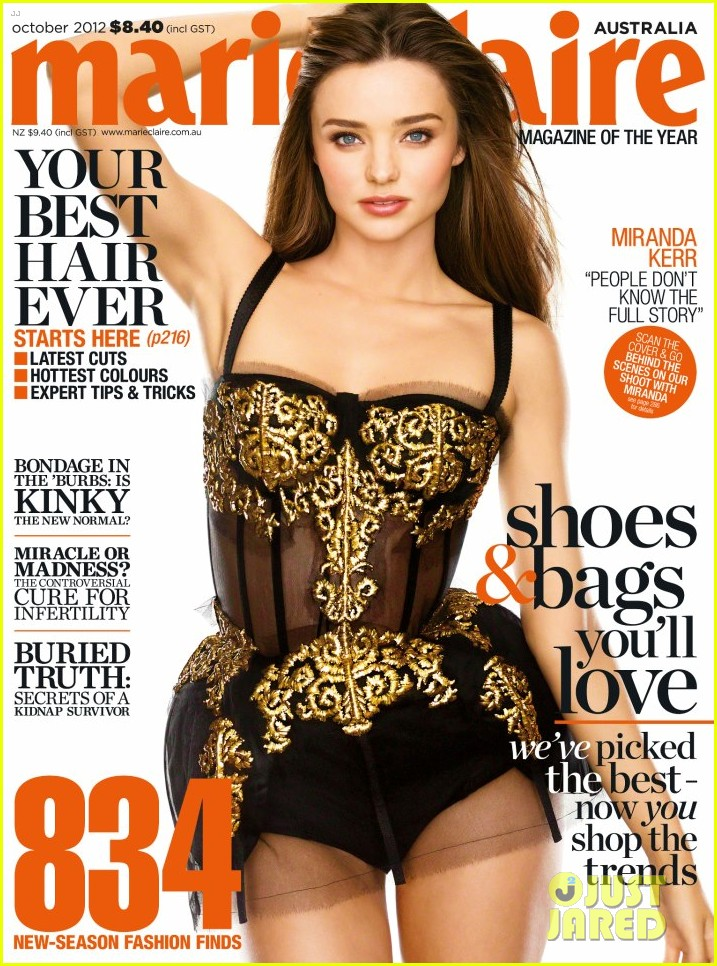 Cover Girls: Miranda Kerr on Marie Claire Australia October 2012