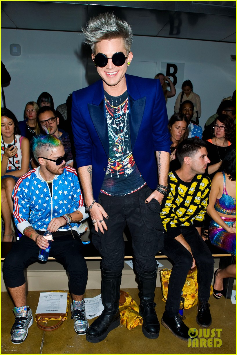 adam lambert ryan lochte jeremy scott show 11