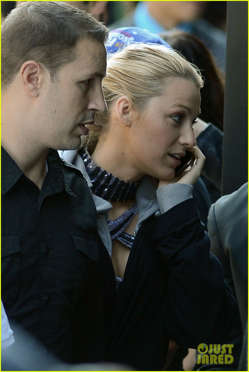 blake lively first post wedding sighting gossip girl set 10