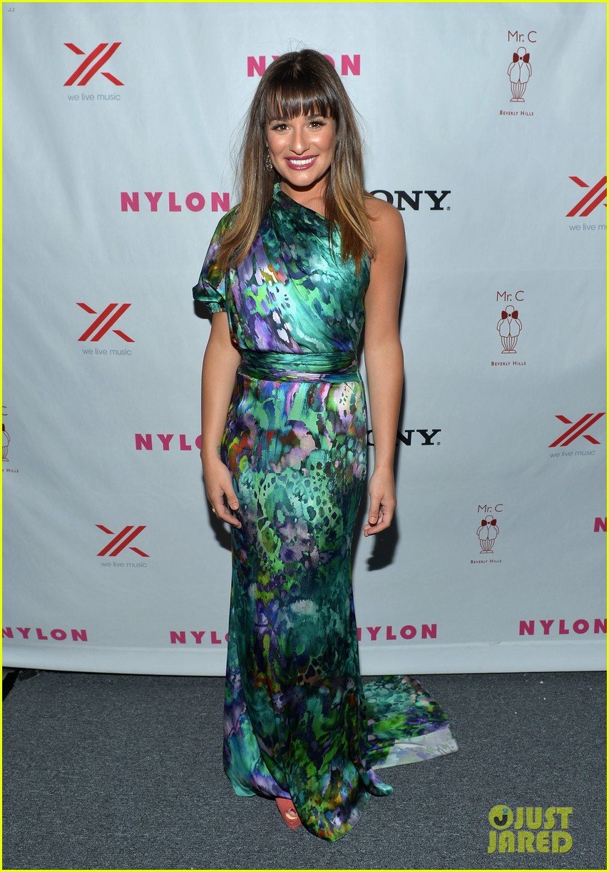lea michele nylon september tv issue launch party 01