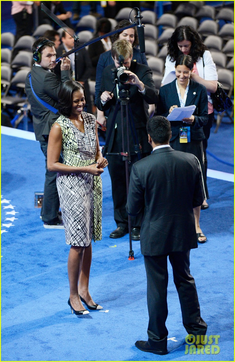 michelle obama preps democratic national convention in charlotte kal penn 012713540
