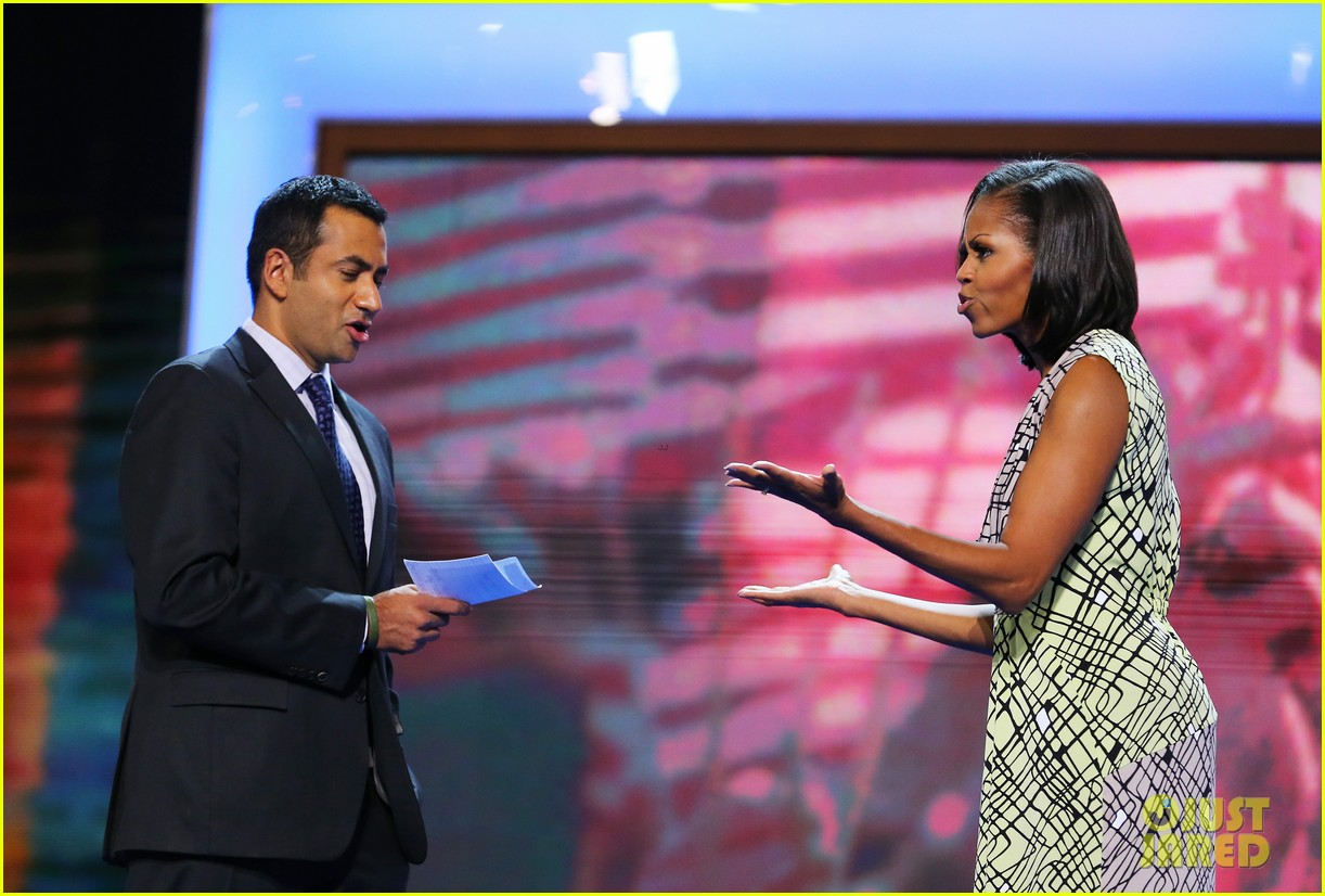 michelle obama preps democratic national convention in charlotte kal penn 12