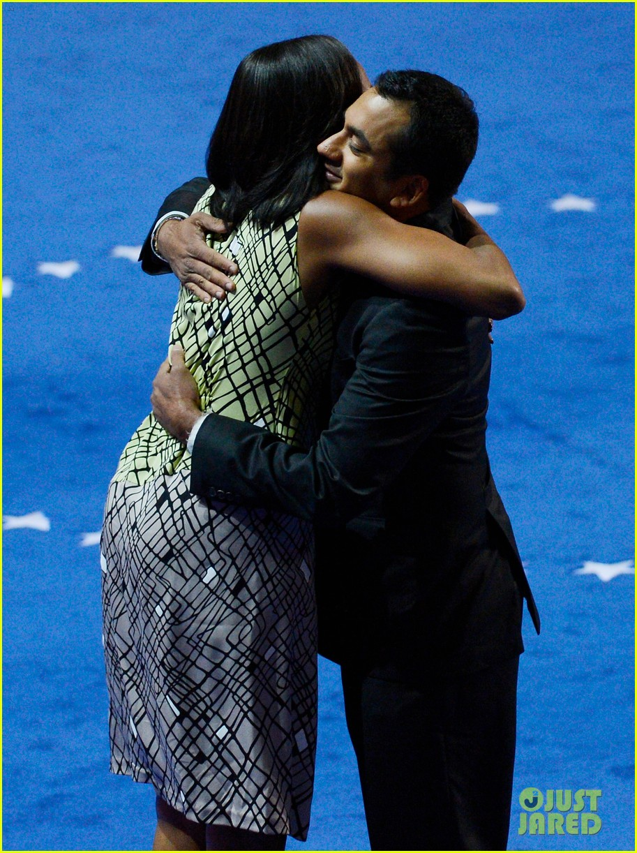 michelle obama preps democratic national convention in charlotte kal penn 13