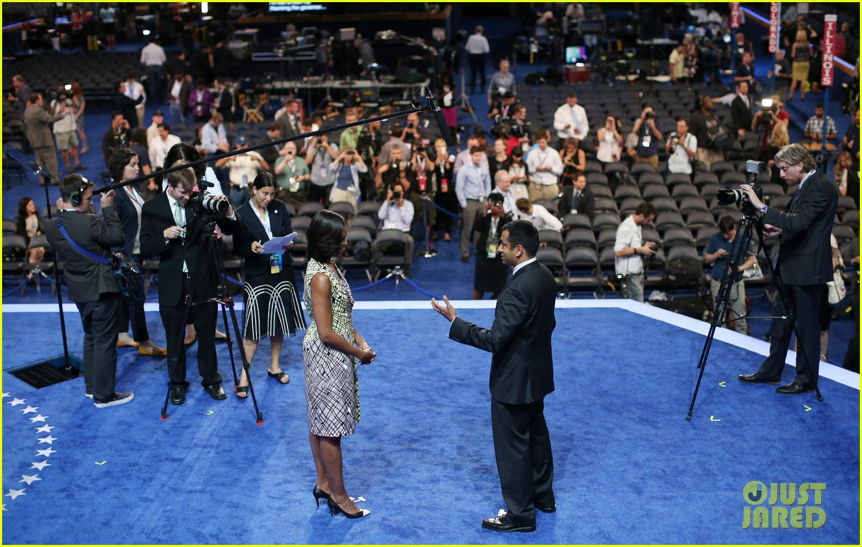michelle obama preps democratic national convention in charlotte kal penn 152713554
