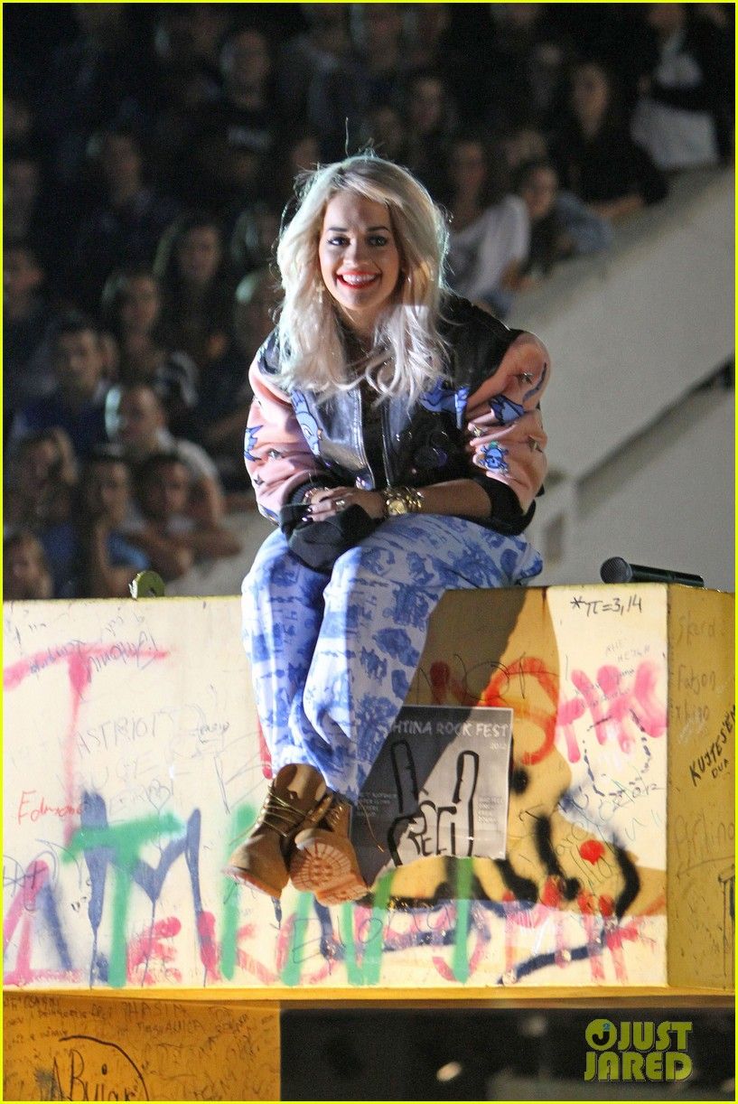 rita ora shine ya light video shoot in kosovo 05