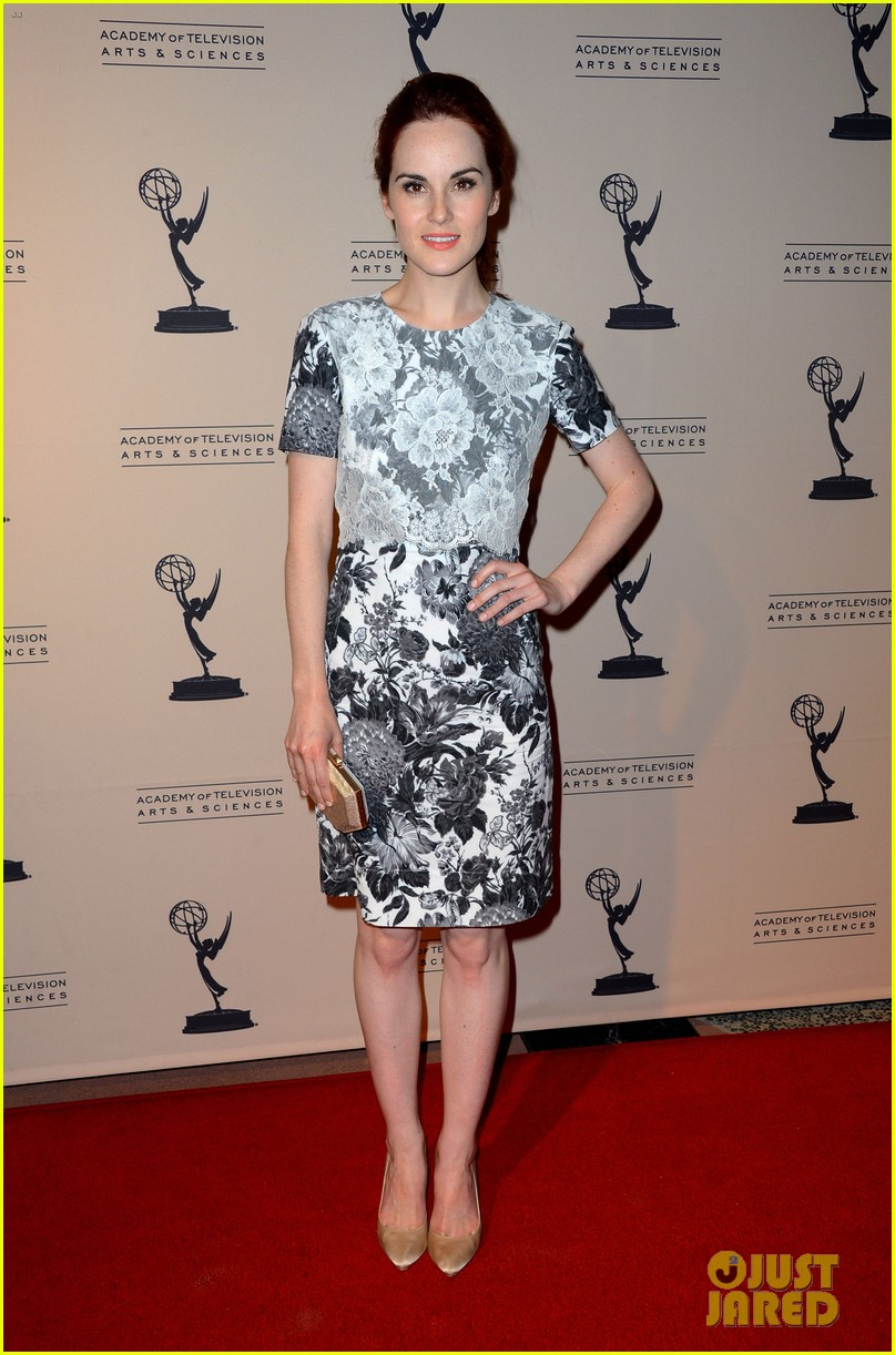 jessica pare michelle dockery atas emmy awards reception 08