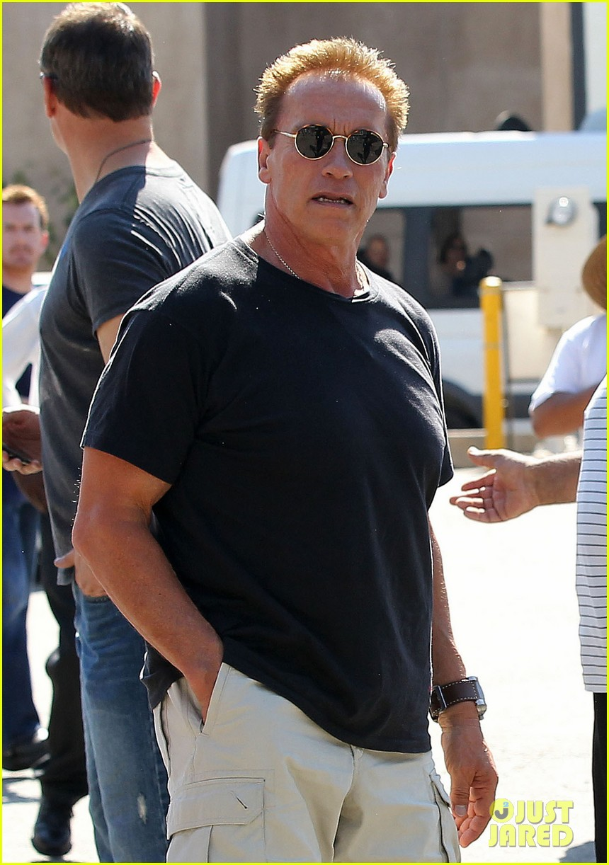 patrick schwarzenegger lunch with dad sylvester stallone 132722995