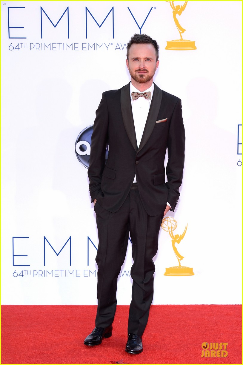 aaron paul lauren parsekian emmy awards 012727175