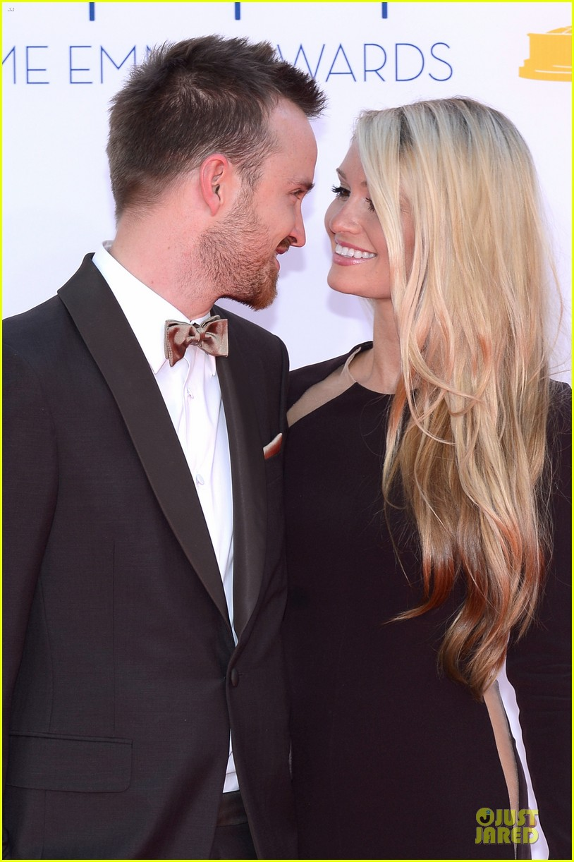 aaron paul lauren parsekian emmy awards 02