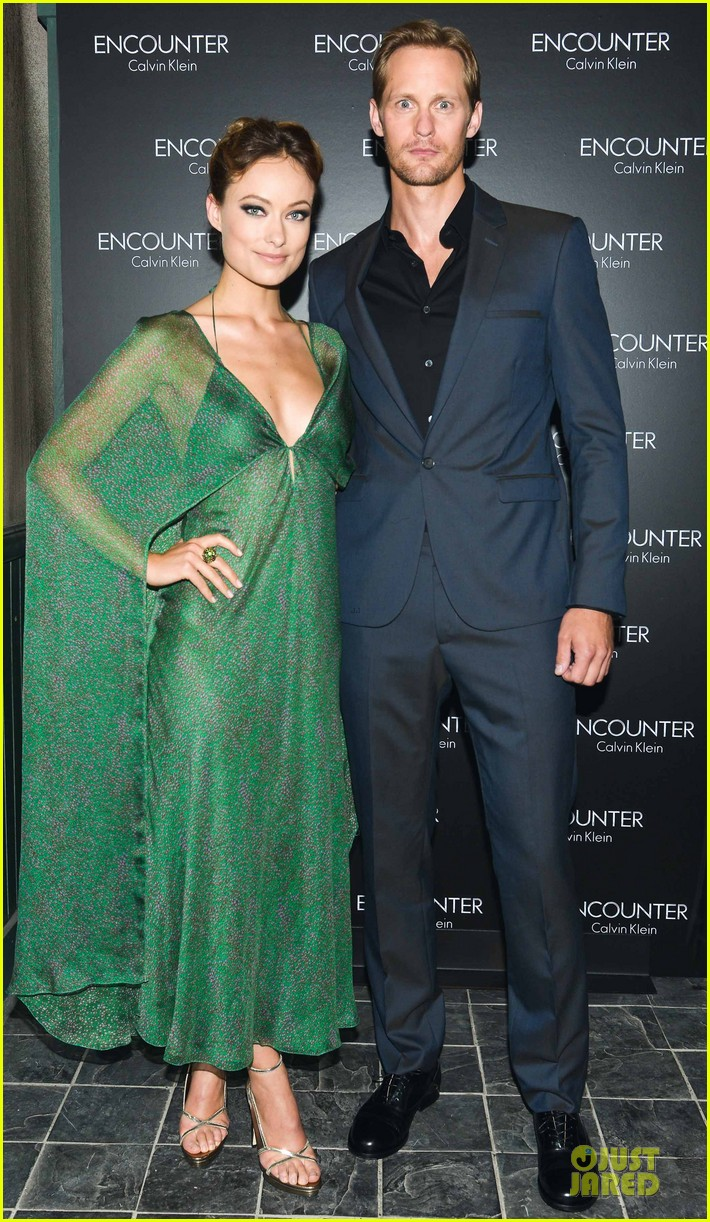 alexander skarsgard olivia wilde encounter fragrance launch 022730065