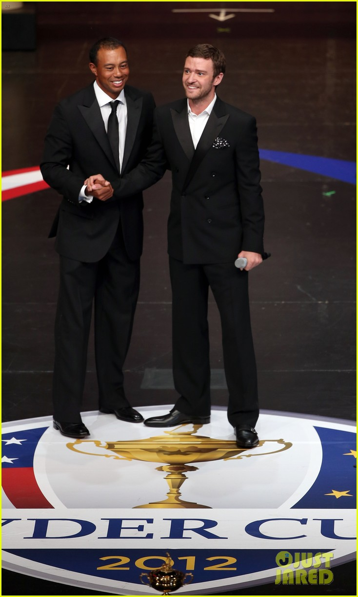 justin timberlake ryder cup gala with tiger woods 14
