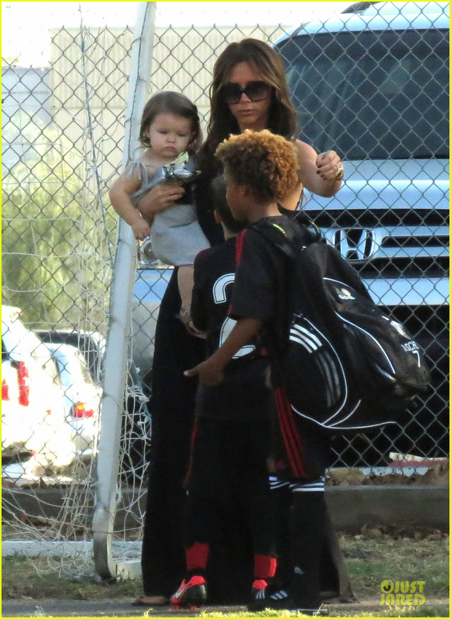 victoria beckham sons soccer game 572730851