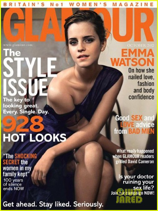 emma watson covers glamour uk october 2012 02