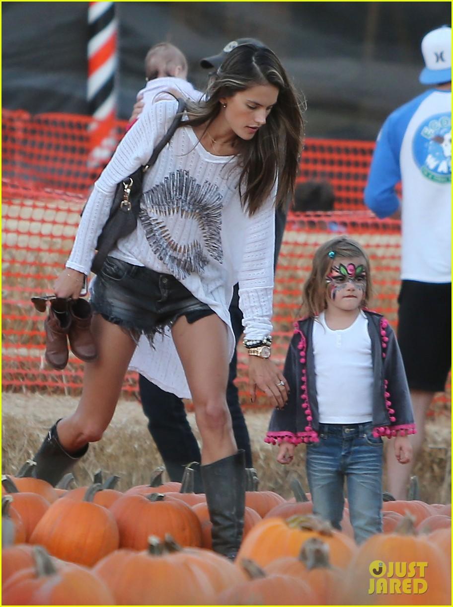 alessandra ambrosio mr bones pumpkin patch visit 242744168