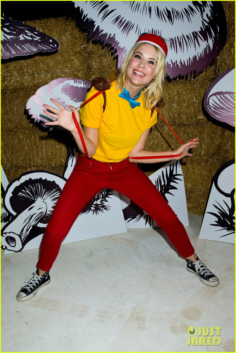 ashley benson chord overstreet just jared halloween party 05