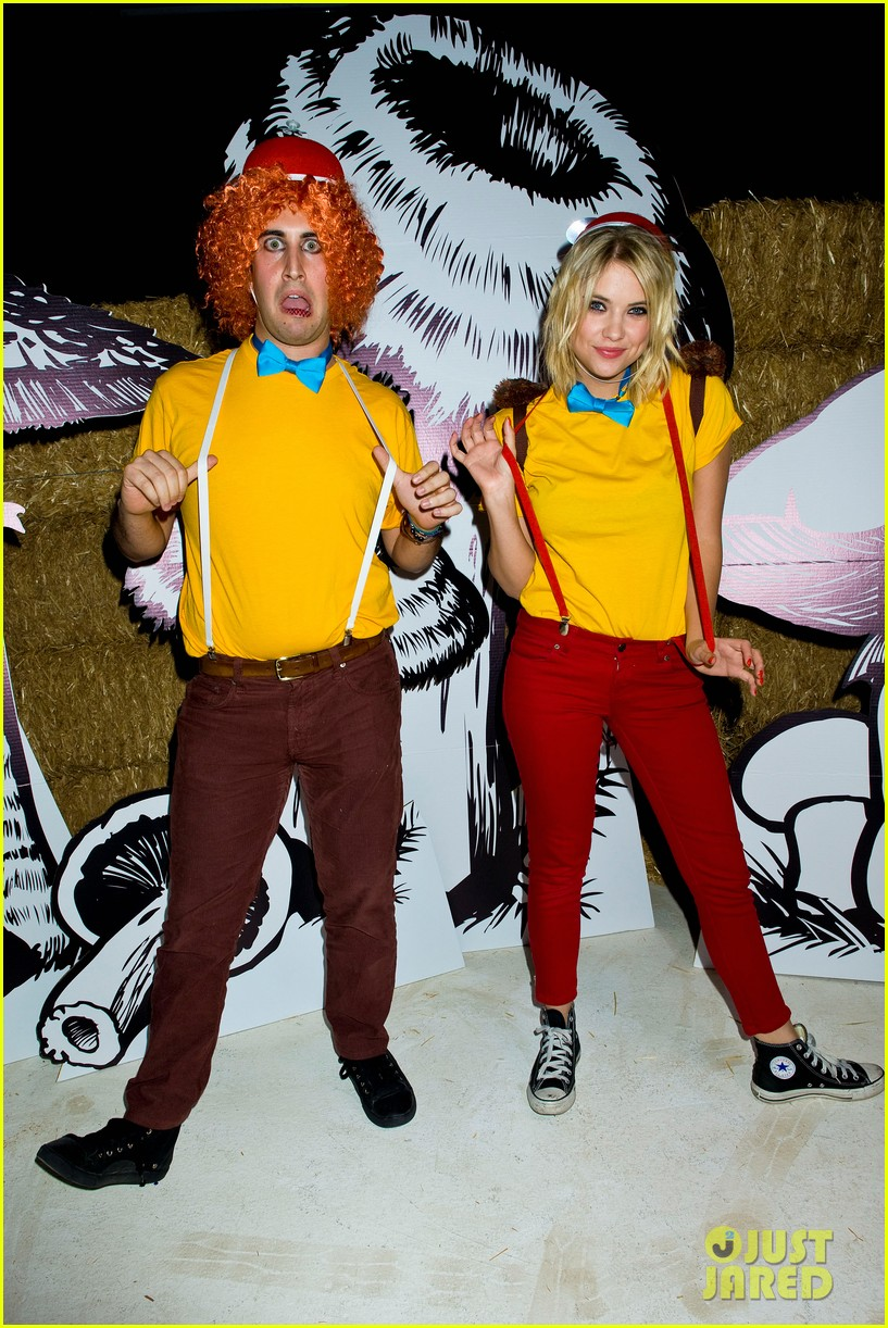 ashley benson chord overstreet just jared halloween party 25