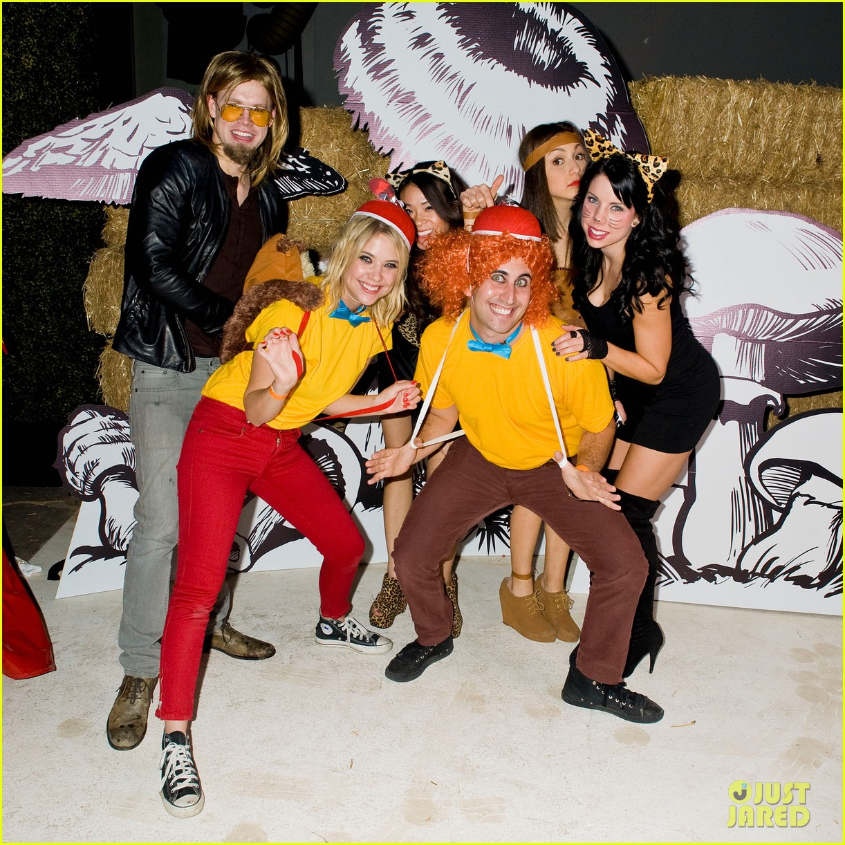 ashley benson chord overstreet just jared halloween party 33