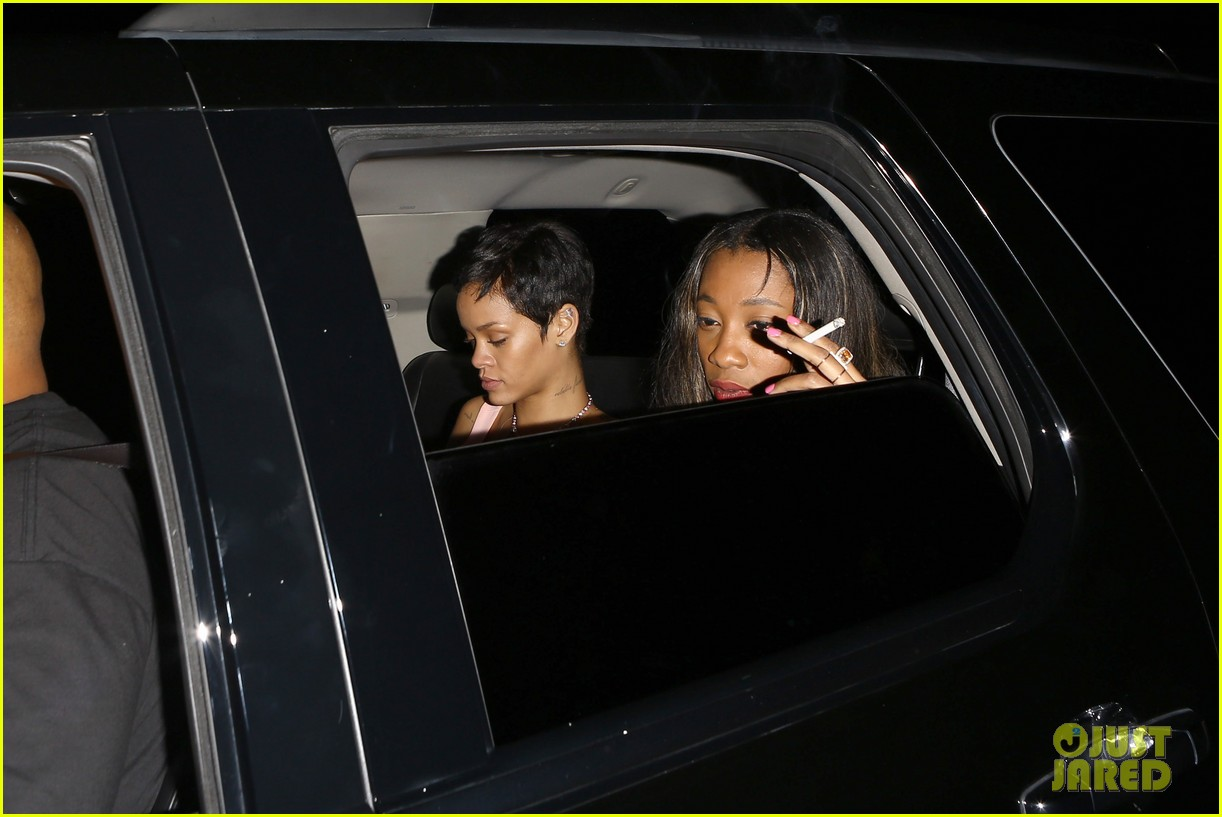 chris brown rihanna leave same party separately 02