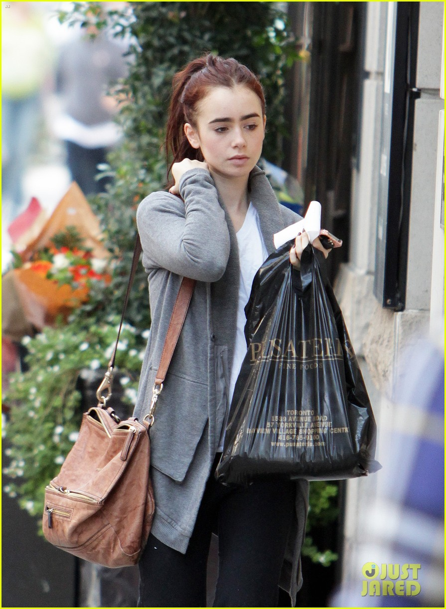 lily collins mortal instruments break in toronto 01
