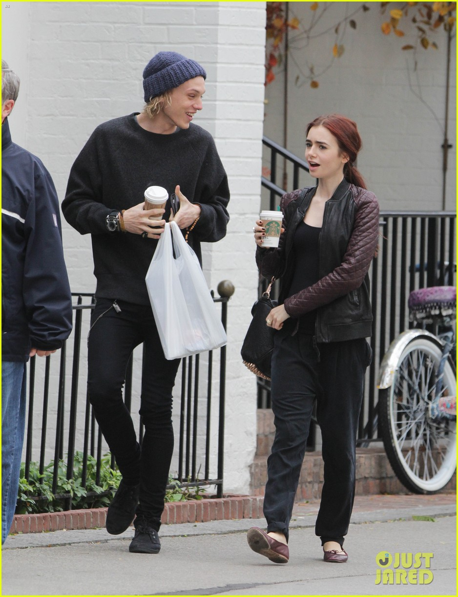 lily collins morning coffee jamie campbell bower 01