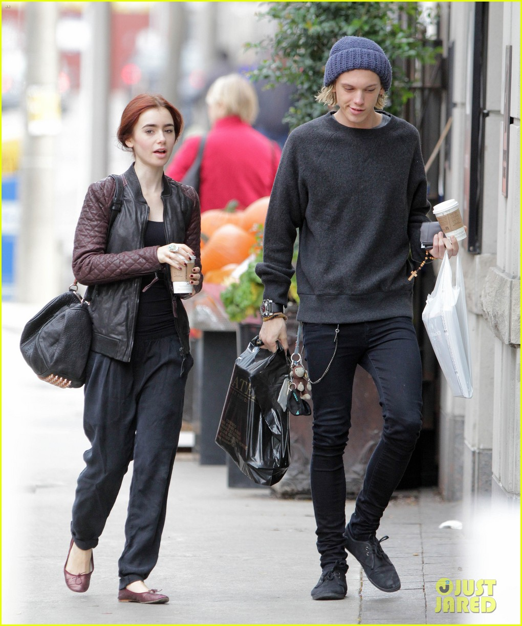lily collins morning coffee jamie campbell bower 05