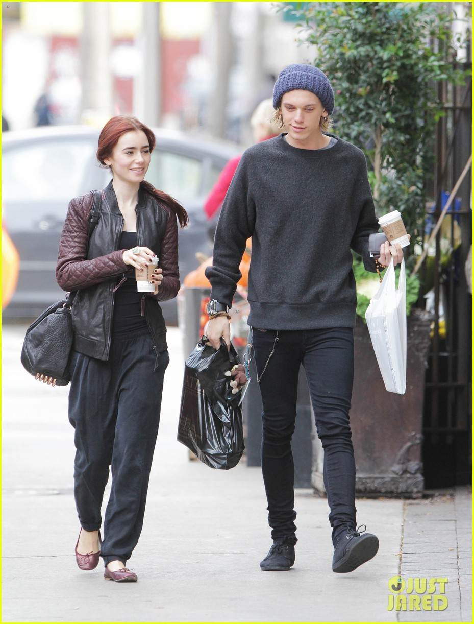 lily collins morning coffee jamie campbell bower 26
