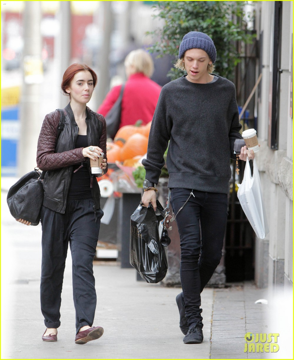 lily collins morning coffee jamie campbell bower 27