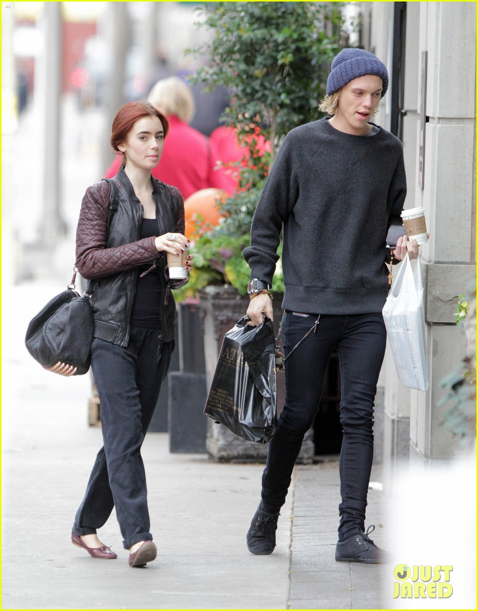 lily collins morning coffee jamie campbell bower 282742657