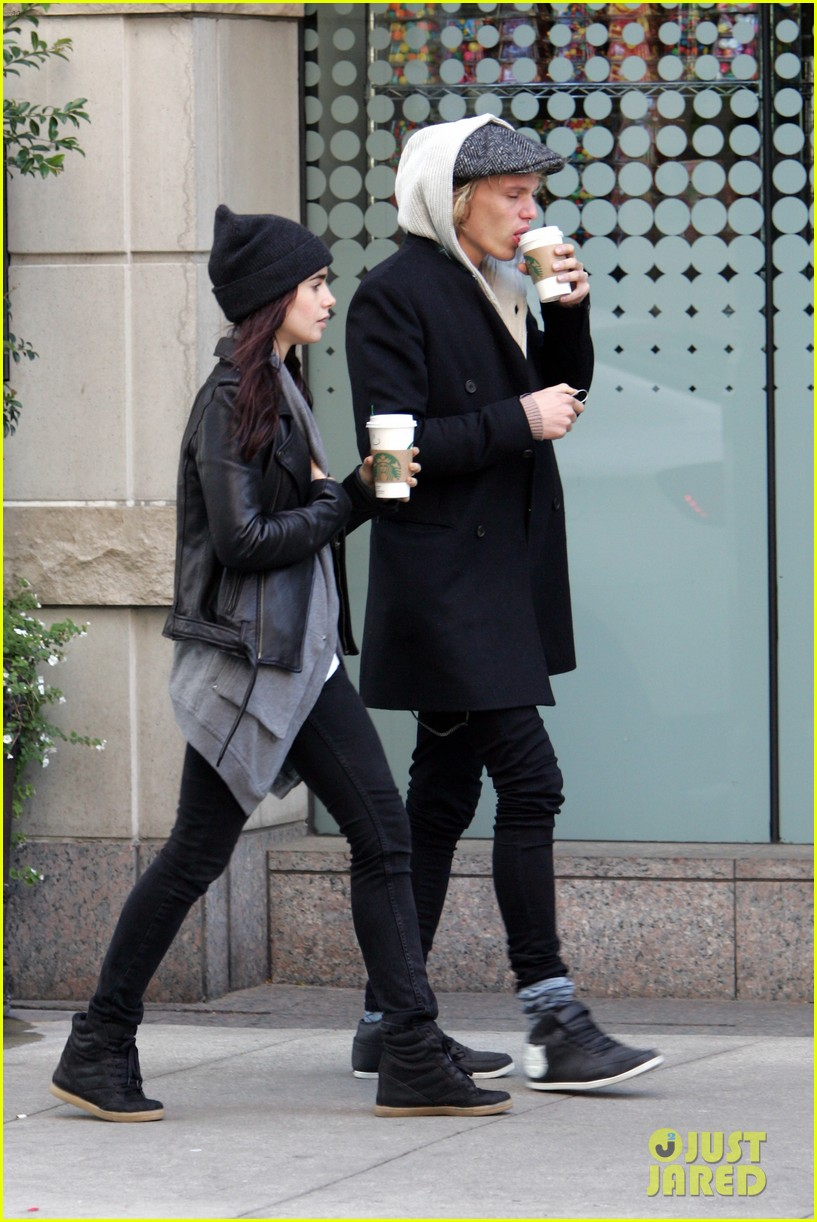 lily collins jamie campbell bower toronto twosome 05