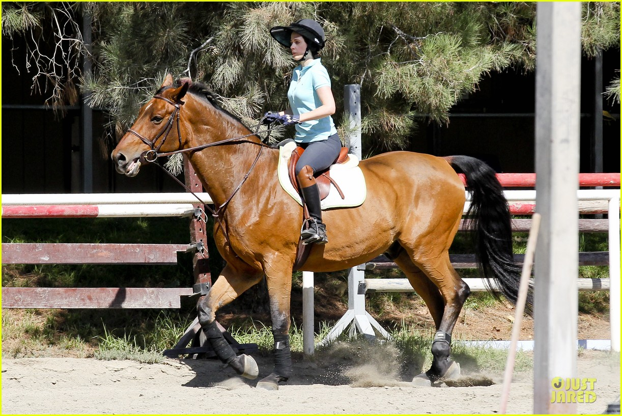 zooey deschanel horseback riding class 152741341