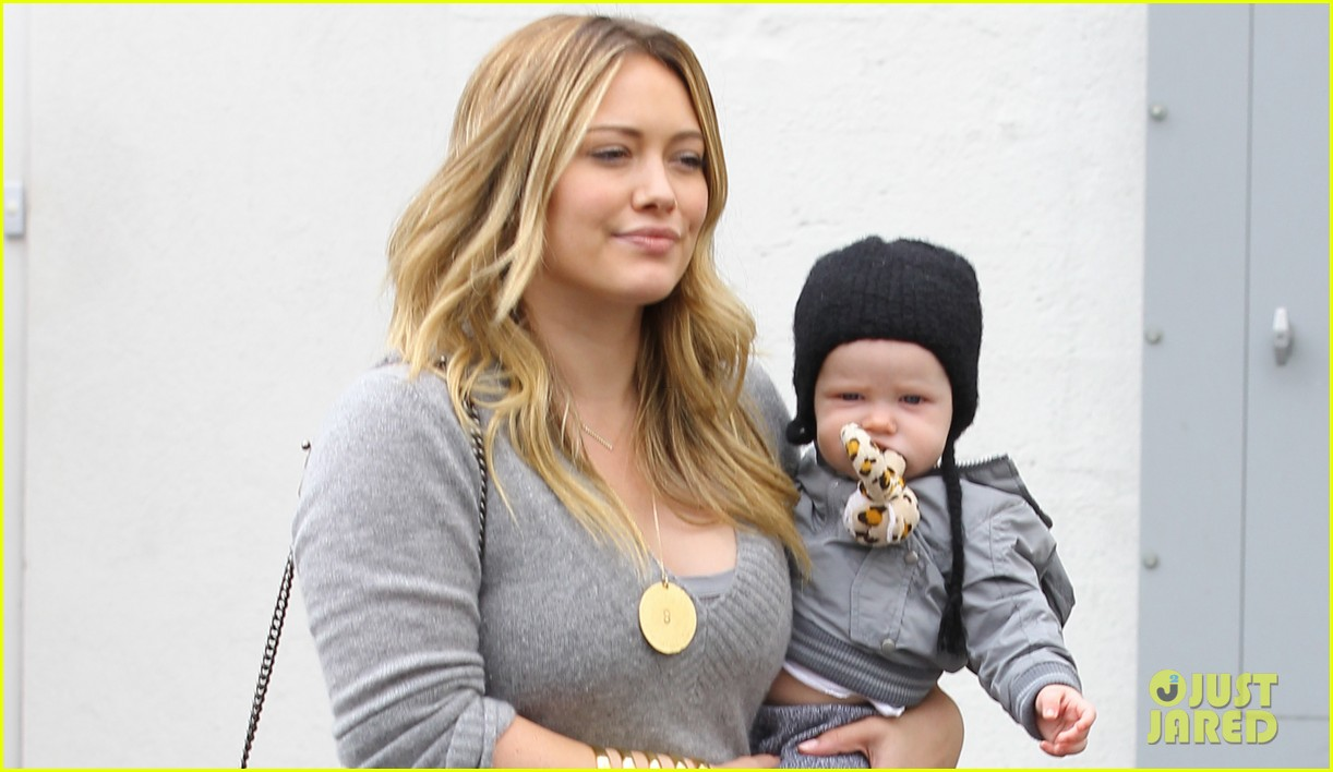 hilary duff happy seven month birthday luca 022742392