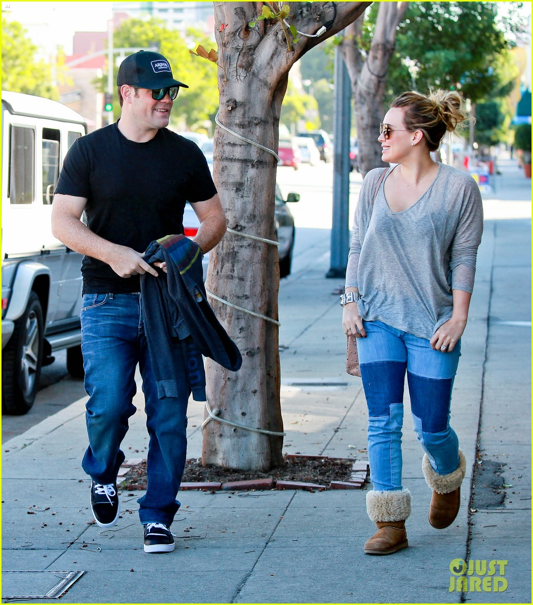 hilary duff mike comrie luca food shopping 21