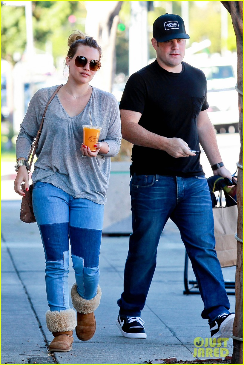 hilary duff mike comrie luca food shopping 252747038