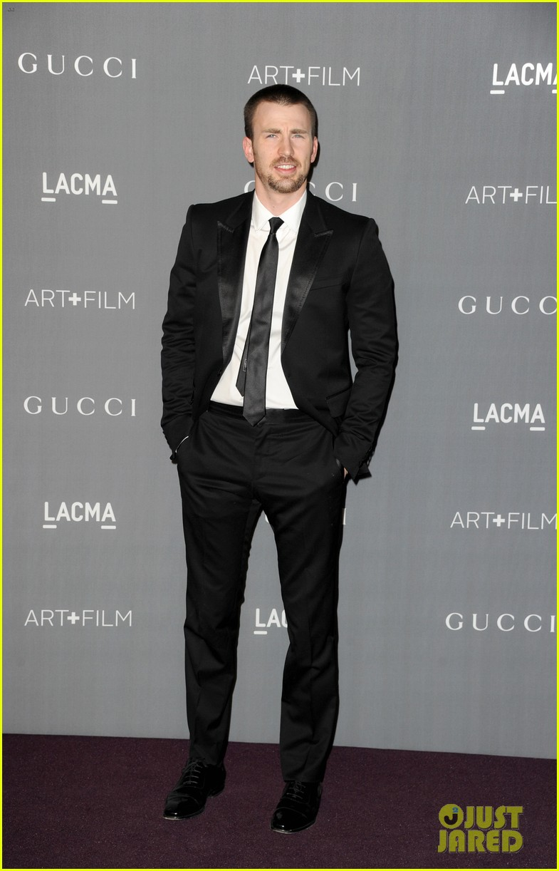 chris evans minka kelly lacma art film gala 2012 05