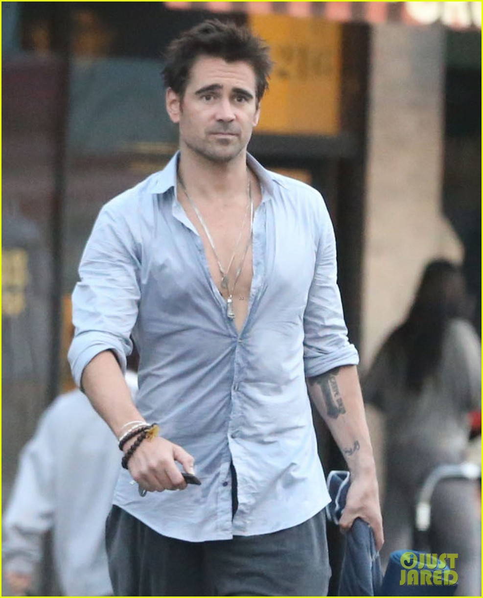 colin farrell sweaty saturday at the gym 022734350