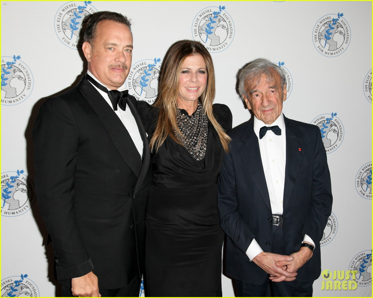 tom hanks arts for humanity gala with elie wiesel 052740163