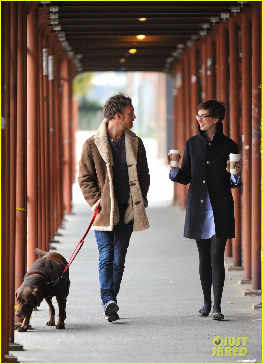 anne hathaway adam shulman coffee dog walk 222745079