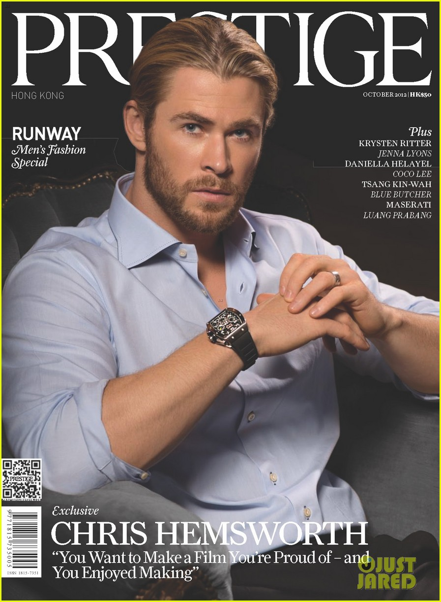 chris hemsworth covers prestige october 2012 012735261