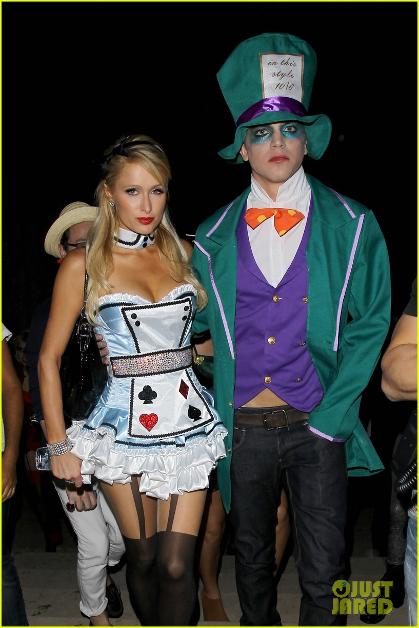 paris hilton river vilperi halloween party pair 08