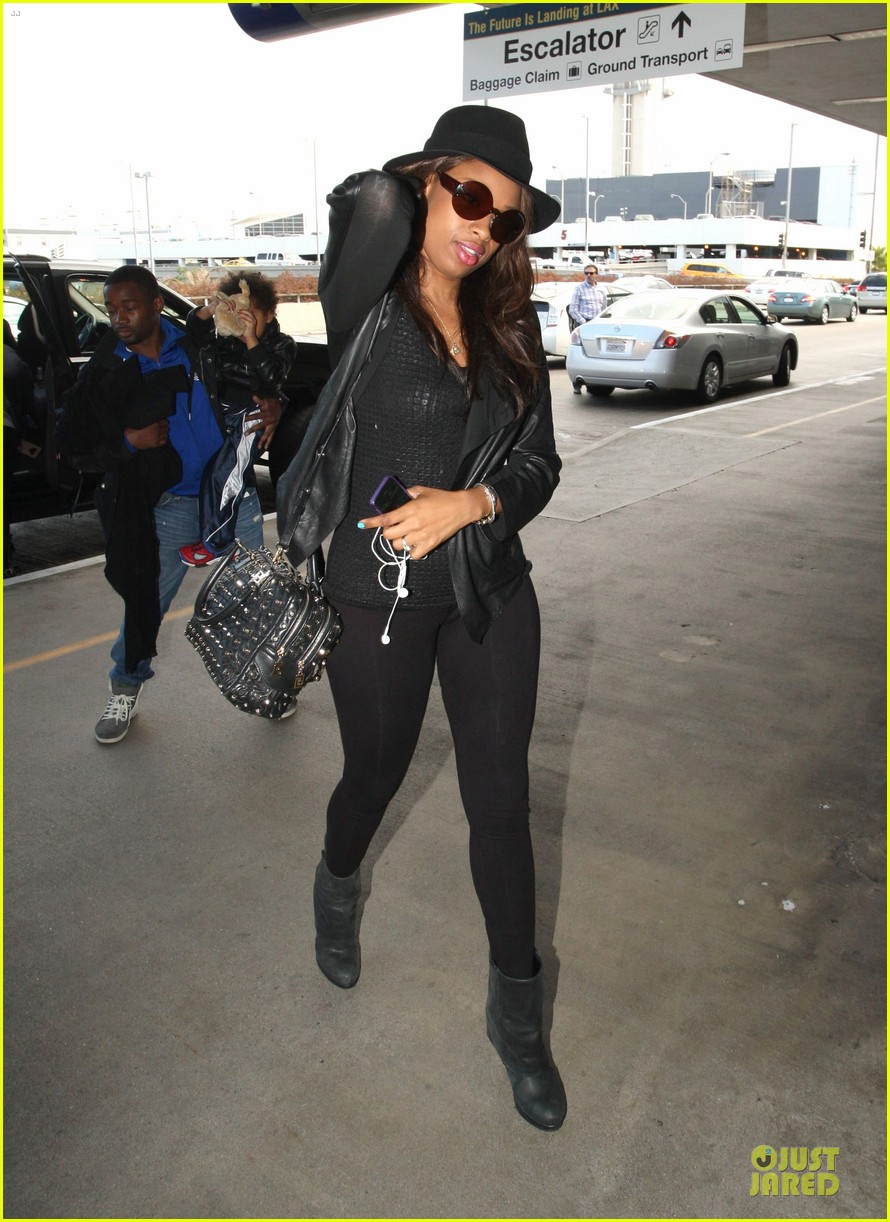 jennifer hudson lax departure with david 08