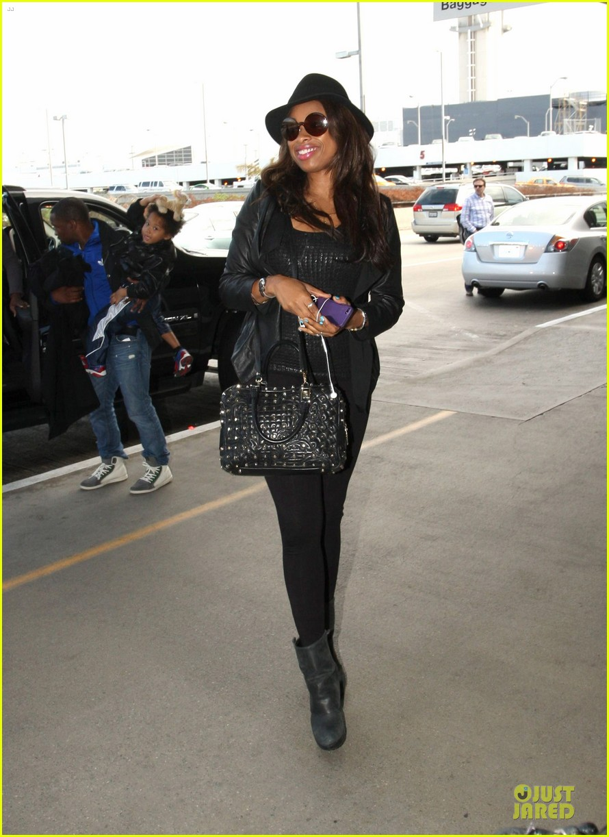 jennifer hudson lax departure with david 09