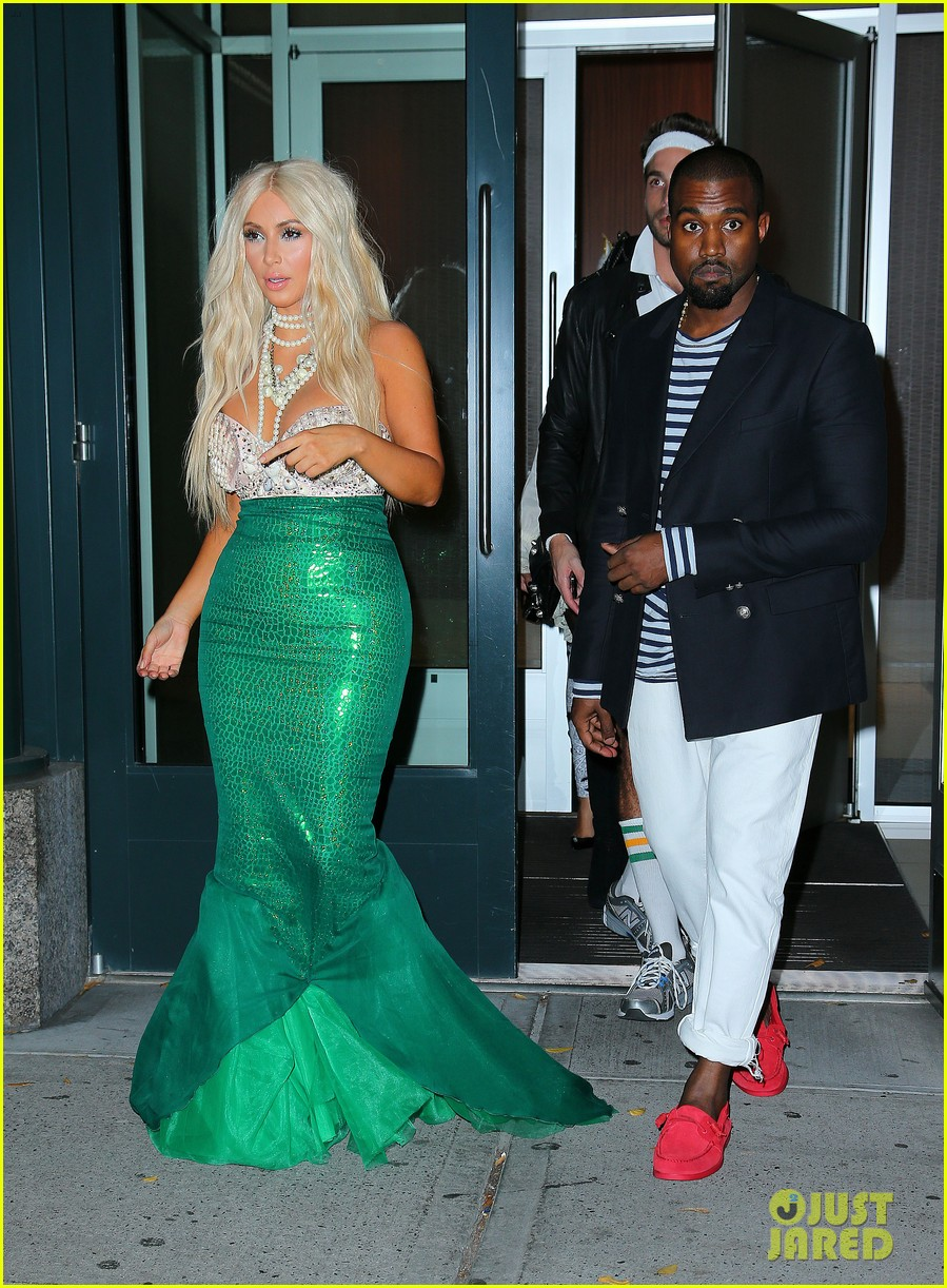 kim kardashian kanye west mermaid sailor for halloween 05
