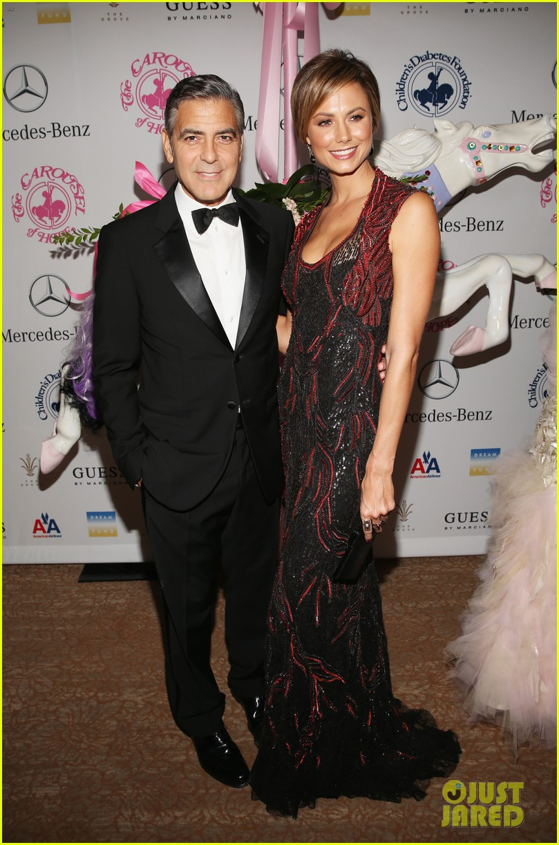 george clooney carousel of hope with stacy keibler 022741817