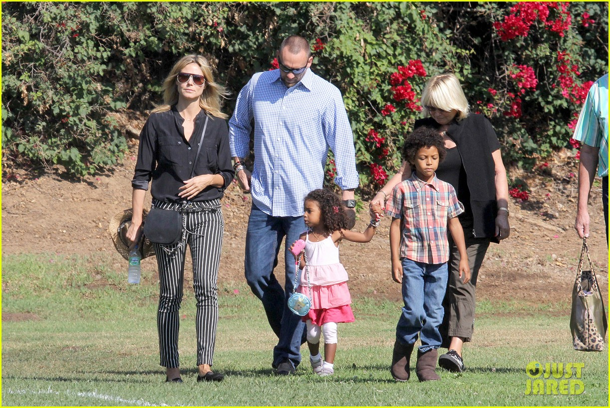 heidi klum soccer game with family 102738478